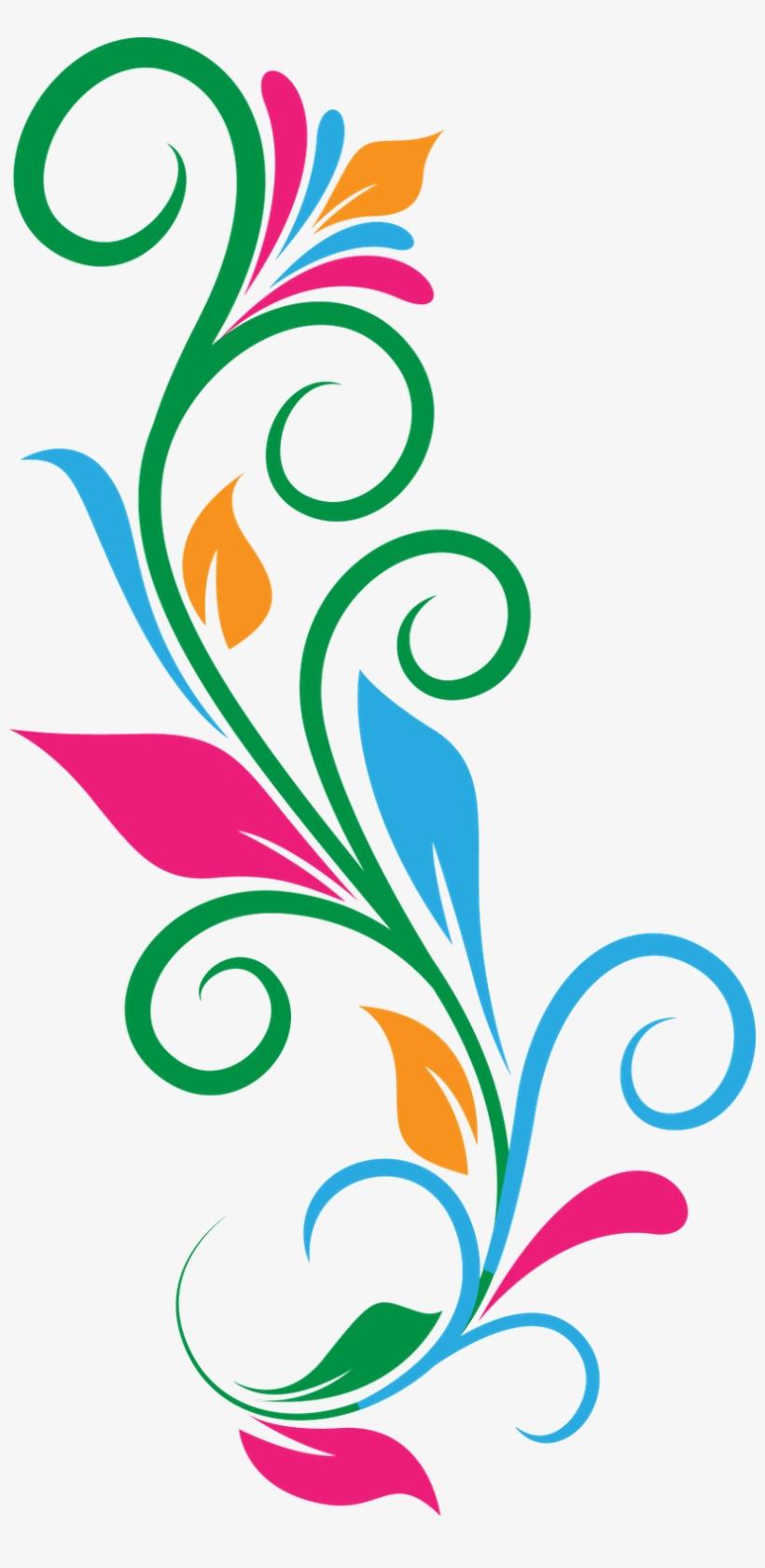 Colorful Floral Design Png PNG Images.