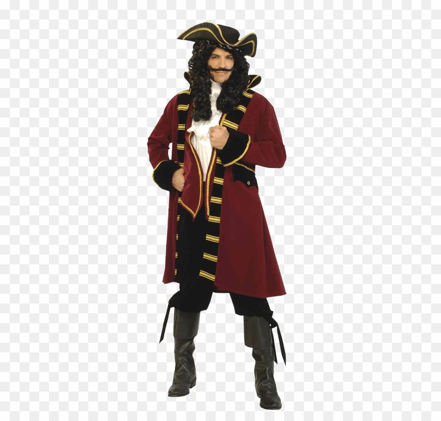 Captain Pirate Designer PNG Adult Pirate Captain Costume Clipart.