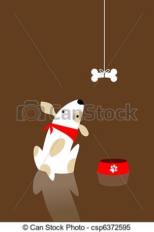 Clipart Vector of Dog bone desire.