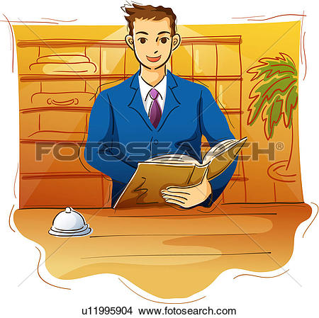 Desk clerk Stock Illustration Images. 124 desk clerk illustrations.