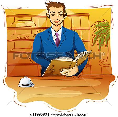 Desk clerk Stock Illustration Images. 124 desk clerk illustrations.