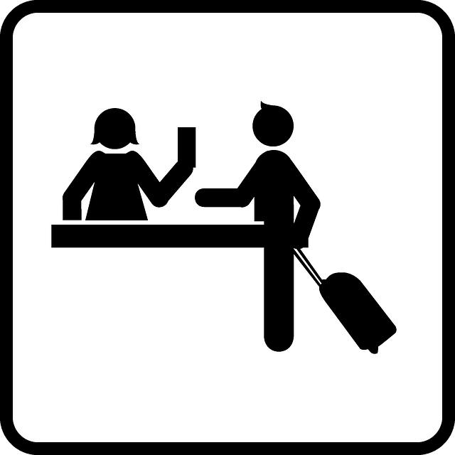 Free vector graphic: Desk Clerk, Reception, Receptionist.