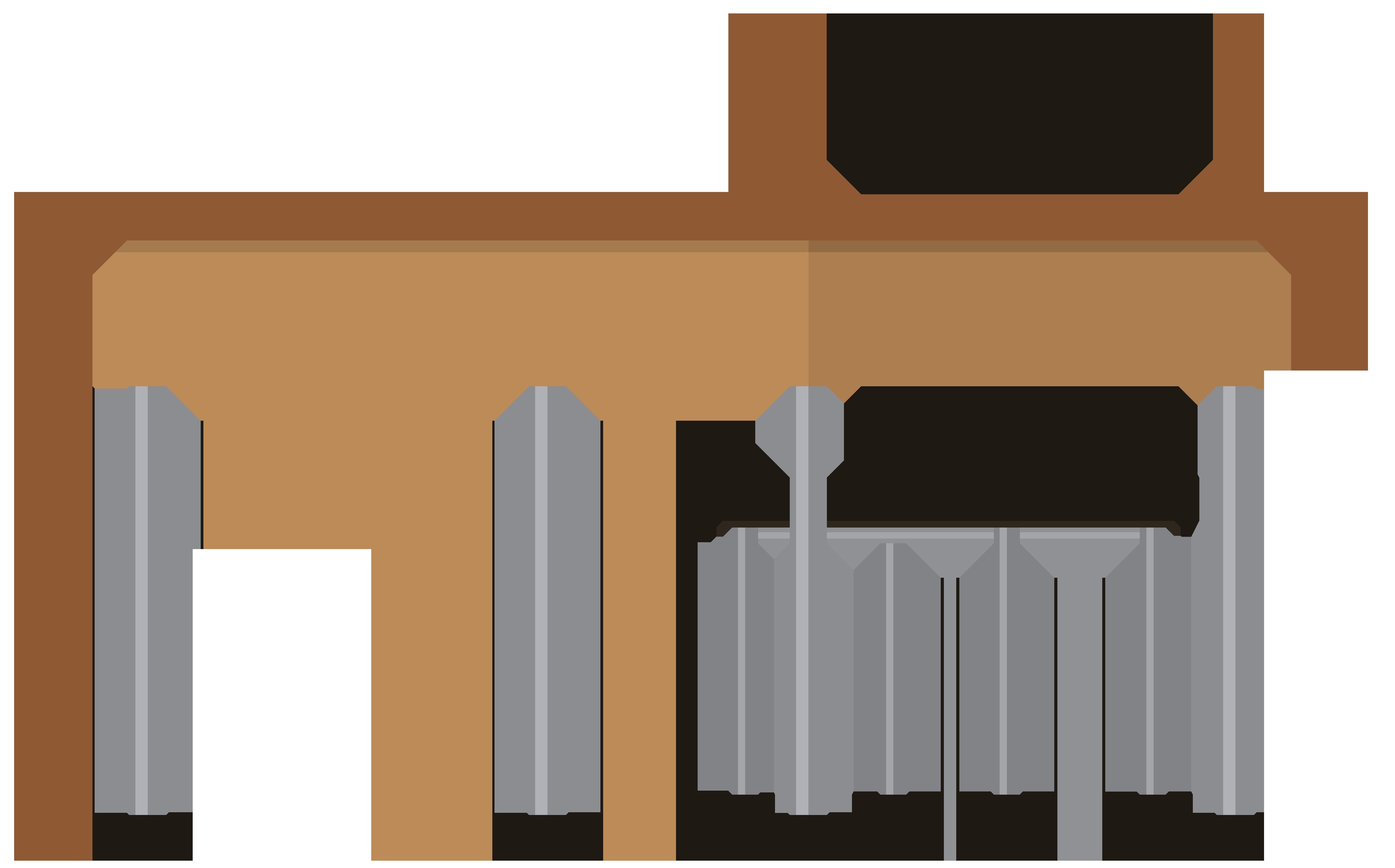 School Desks Clip Art PNG Image.