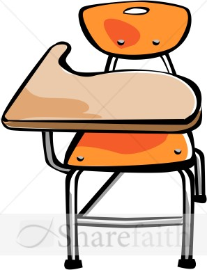 School Desk Clip Art.