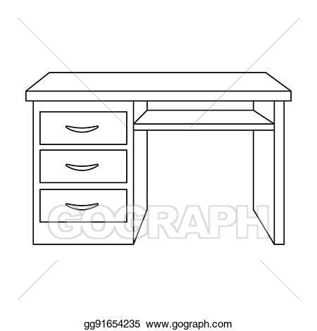 Office desk clipart black and white 3 » Clipart Portal.