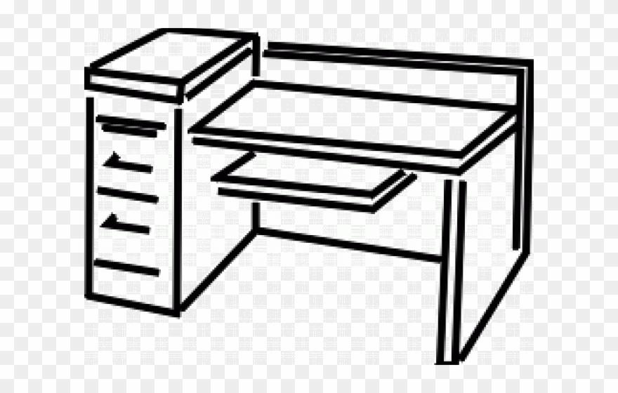 Desk Clipart Office Desk.