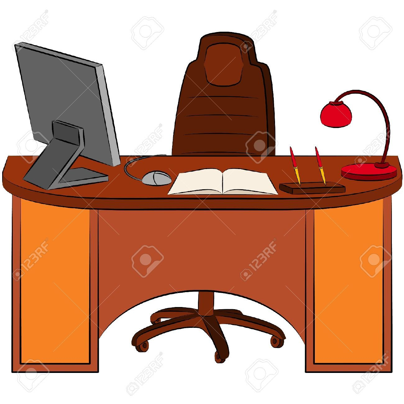 Office Desk Clipart.