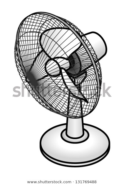 Desk Fan Stock Vector (Royalty Free) 131769488.