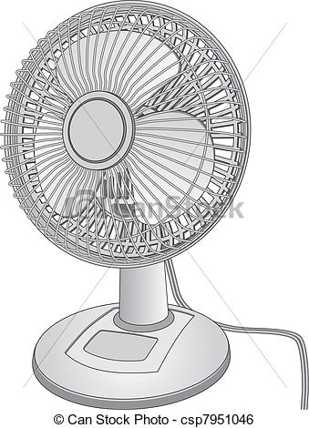 Clip Art Vector of Desk Fan.