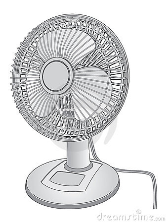 Fan Black And White Clipart.