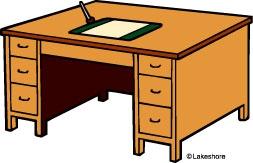 6595 Desk free clipart.