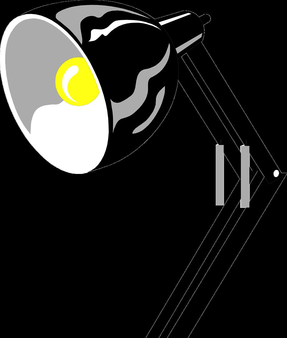 Desk Lamp Transparent Clipart.