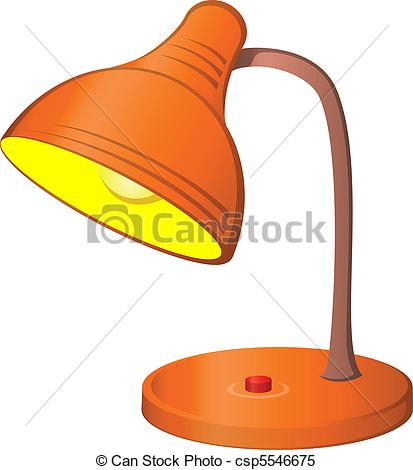 Clipart Vector of Desk lamp.