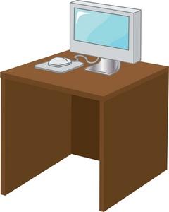 Desk Clipart Image.