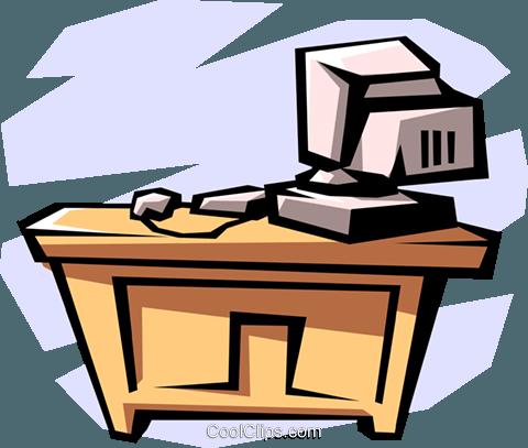 Schreibtisch clipart  desk with computer clipart - Clipground