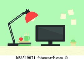 Office desk Clip Art EPS Images. 18,787 office desk clipart vector.