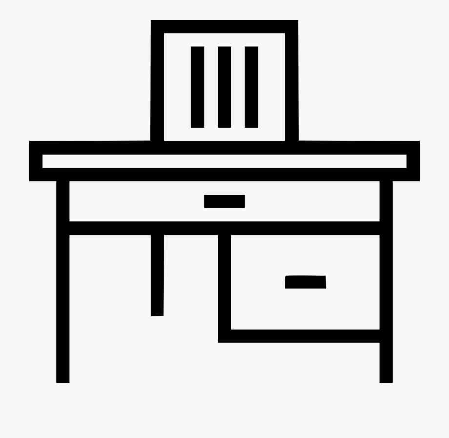 Clipart Desk Work Icon.