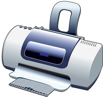 Deskjet Printer, free vectors.