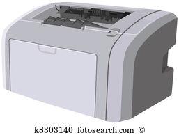 Deskjet Clipart EPS Images. 2 deskjet clip art vector.