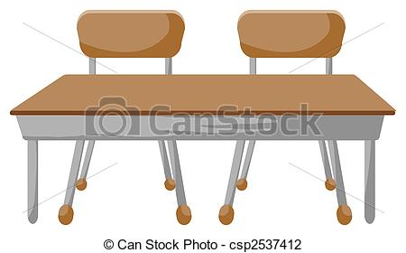 Clipart desk and chair.