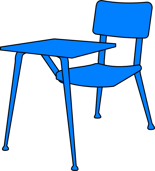 School Desks Clipart.