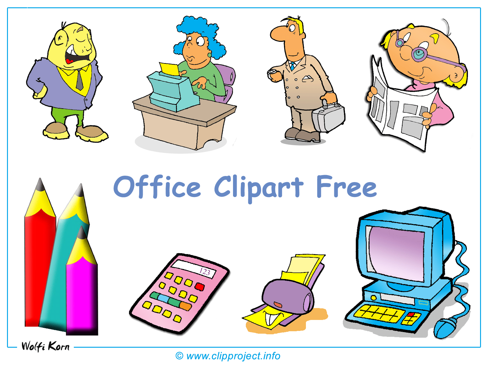 Office Clipart Desktop Background.