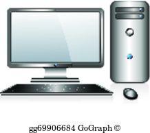 Desktop Computer Clip Art.