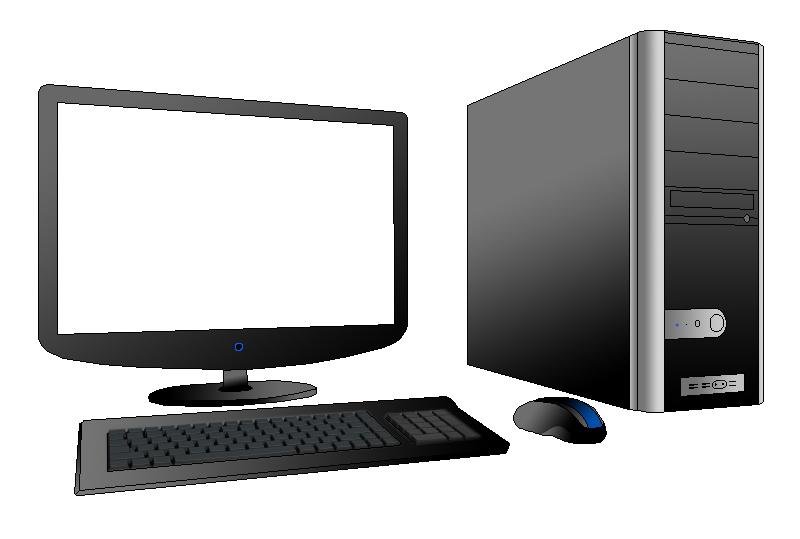 Free to Use & Public Domain Desktop Computer Clip Art.