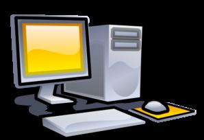 Desktop Clipart Image.
