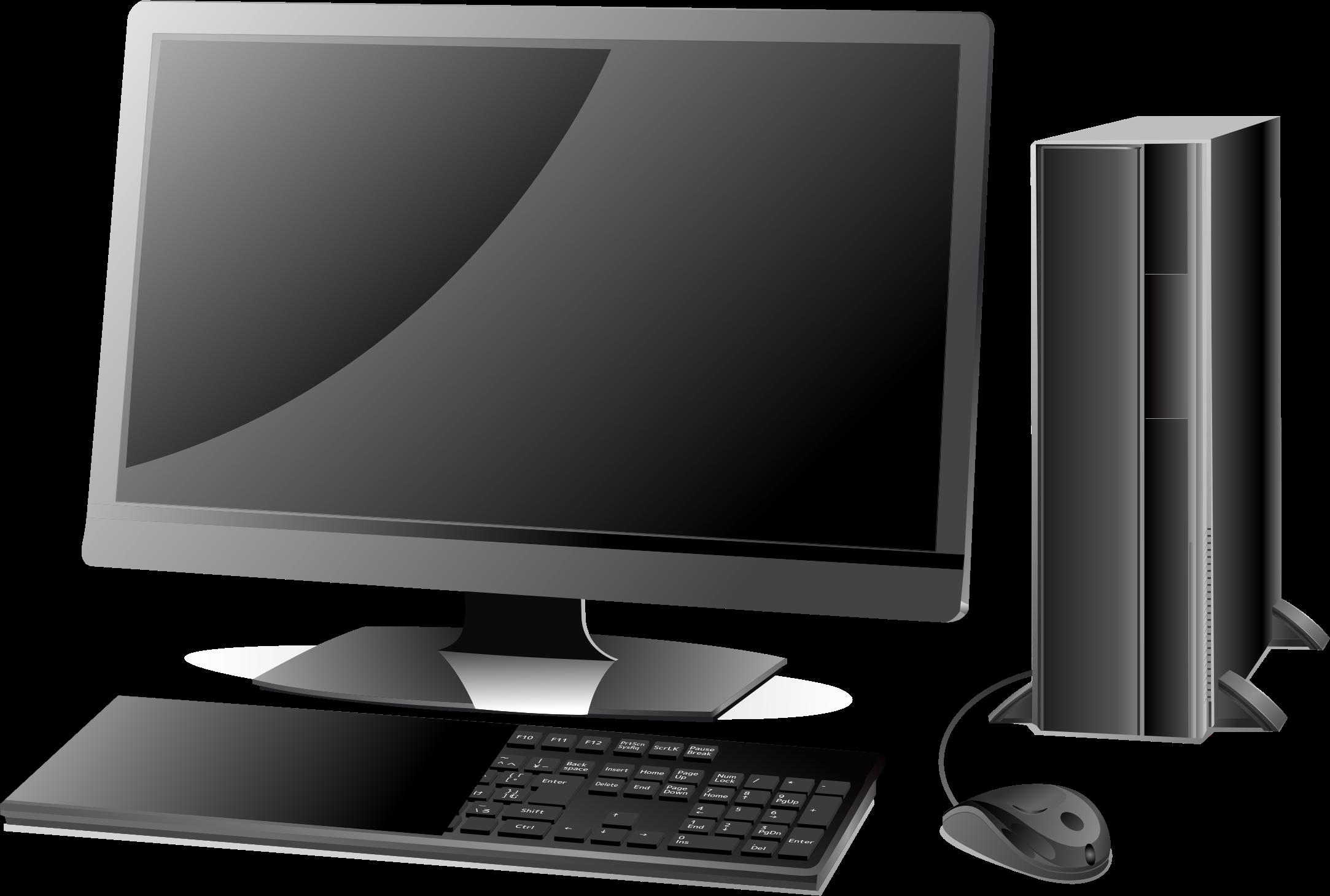 Banner Library Stock Desktop Computer Clipart.