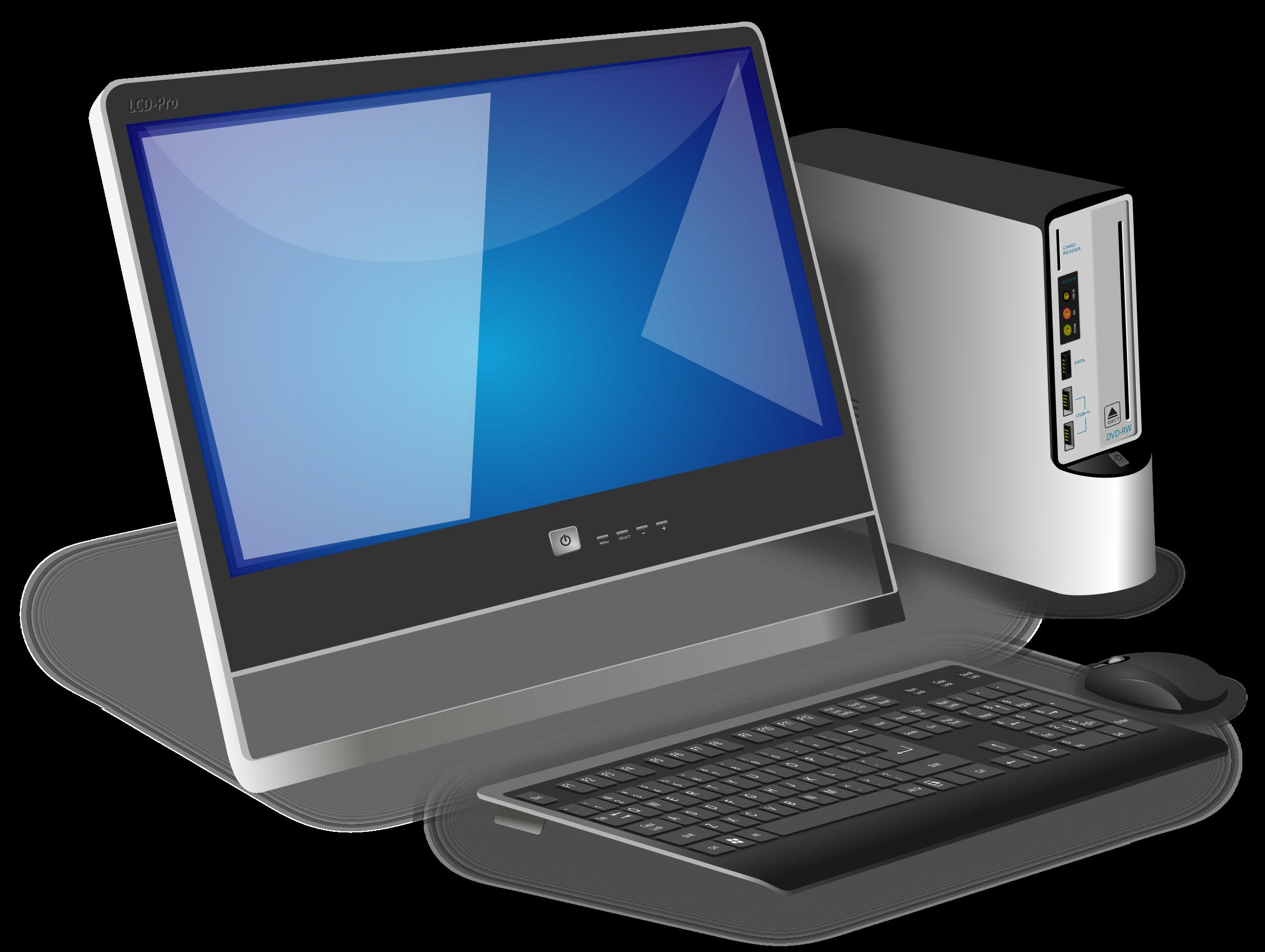 Desktop computer Computer monitor Clip art.