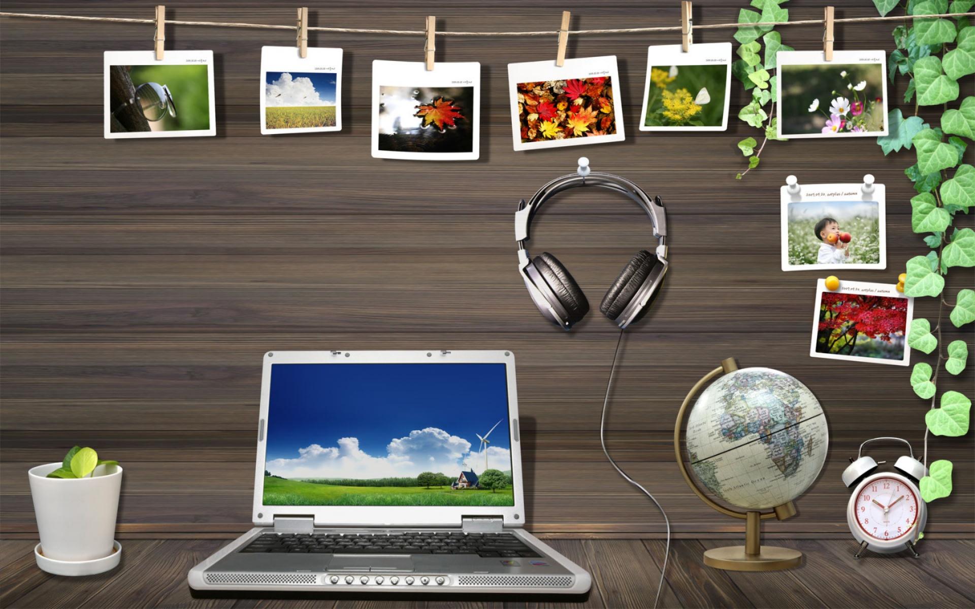 Laptop desktop background clipart.