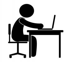 Desk Work Clipart.
