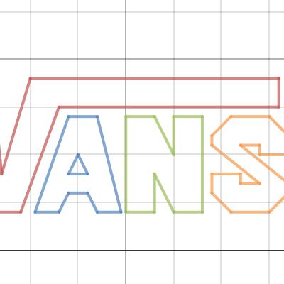 Vans logo line art.