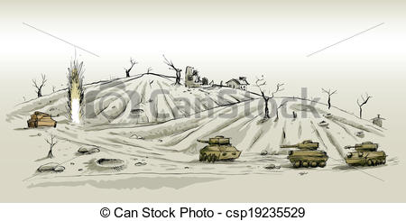 EPS Vectors of Desolate Landscape.