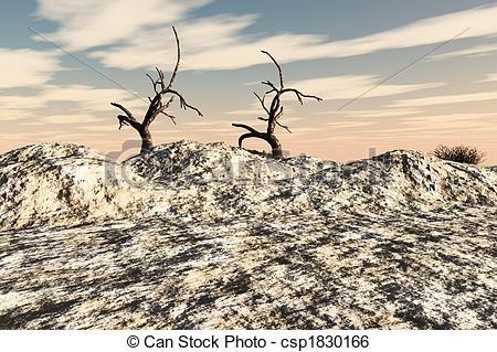Stock Illustration of Deserted Land.