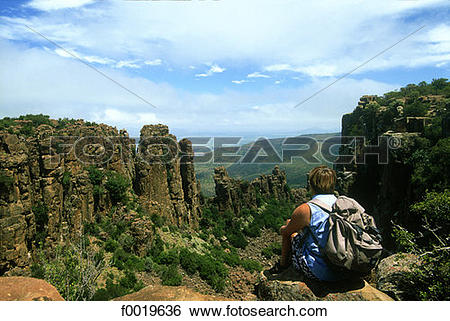 Stock Images of South Africa, Great Karoo, Valley of Desolation.