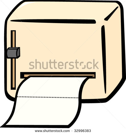 Paper Towel Dispenser Clipart.