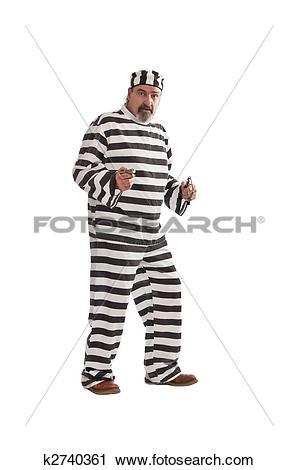 Stock Photography of Desperado escaped from a jail k2740361.