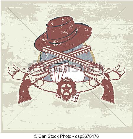 Clip Art Vector of sheriff insignia.