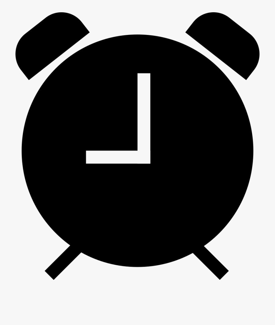 Alarm Clock Black Symbol.