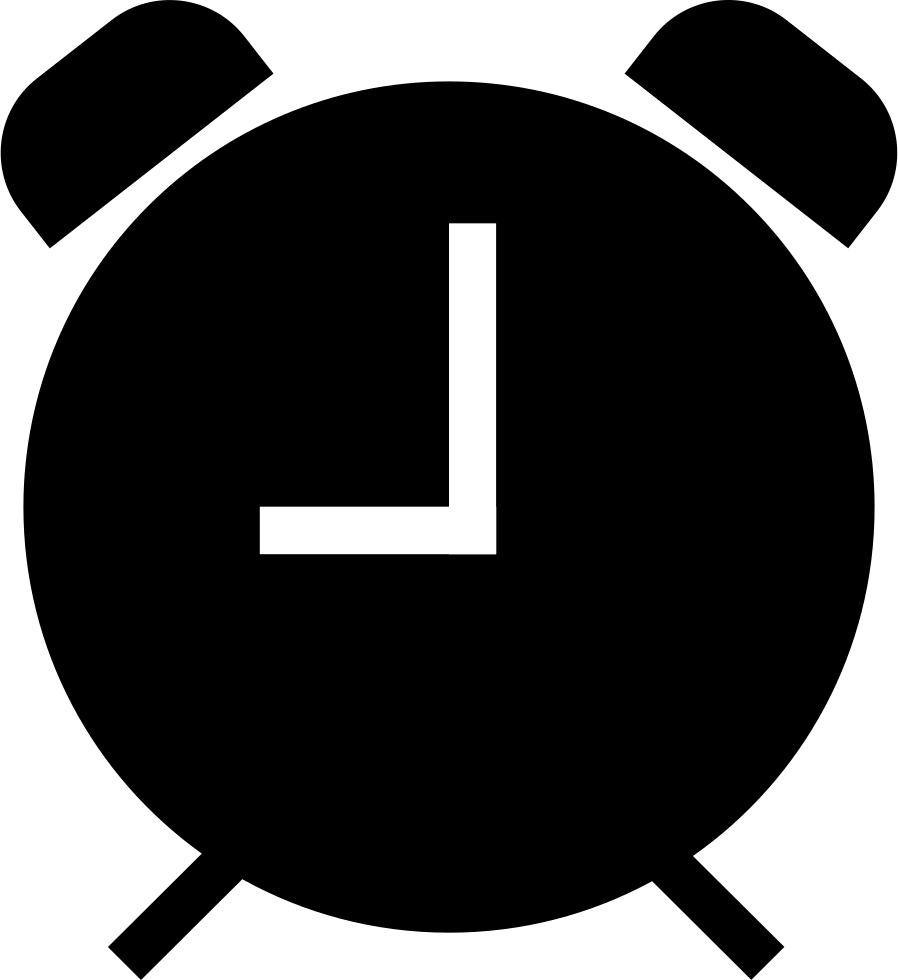Alarm Clock Black Symbol Comments.