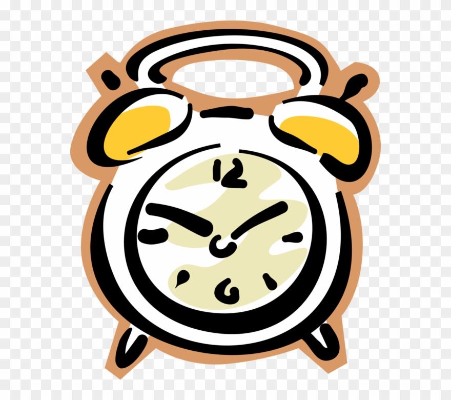Vector Illustration Of Alarm Clock Ringing Its Morning.