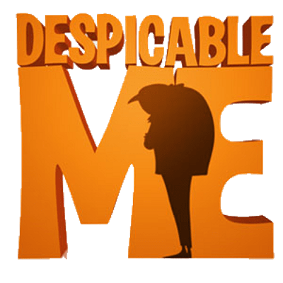 Despicable Me Silhouette Logo transparent PNG.