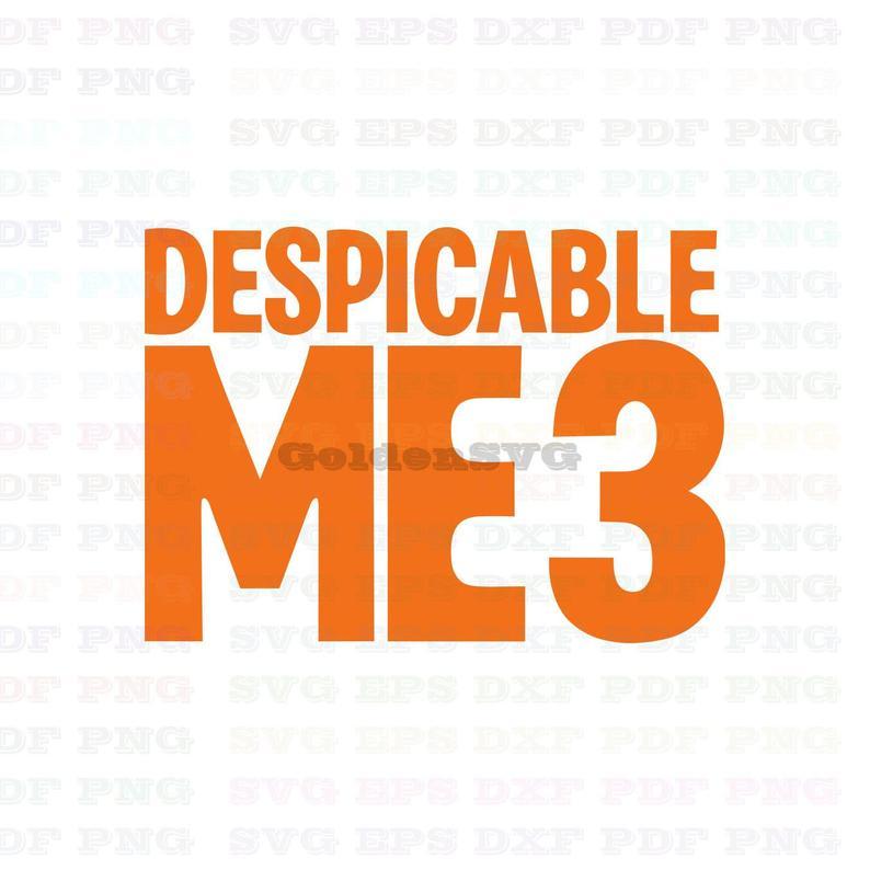 Despicable Me Logo Svg Dxf Eps Pdf Png, Cricut, Cutting file, Vector,  Clipart.