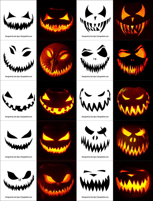 65 Friendly Halloween Pumpkin Face Ideas.