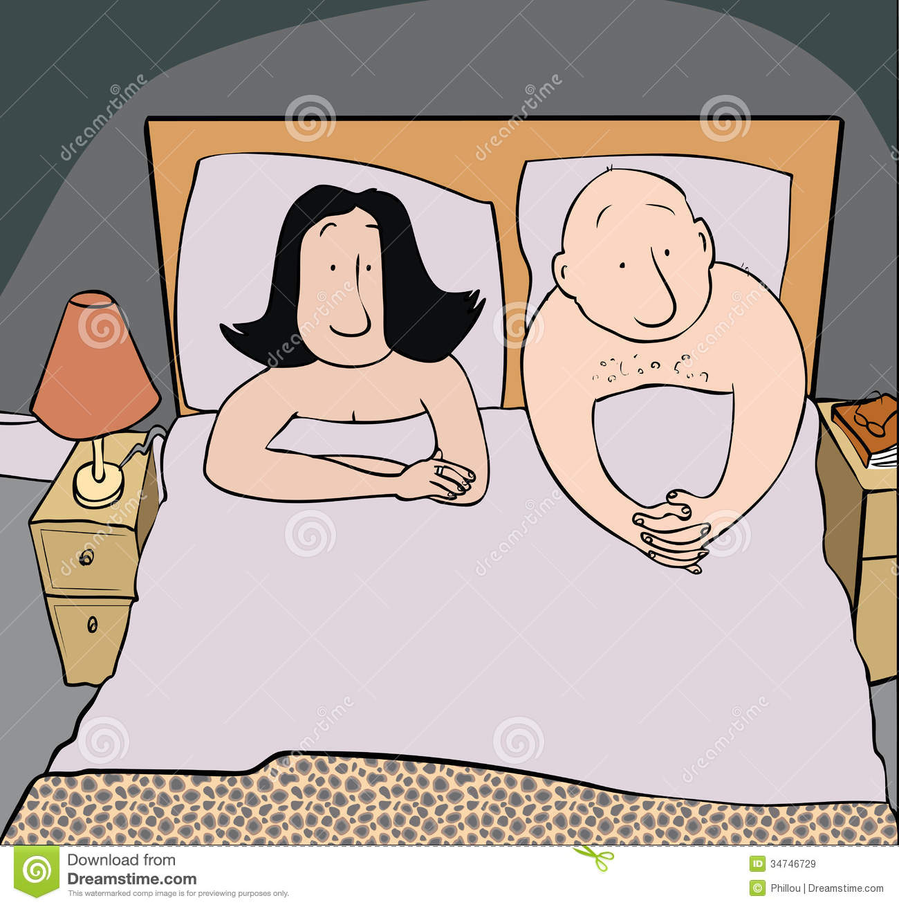 Bedroom Problem Royalty Free Stock Images.
