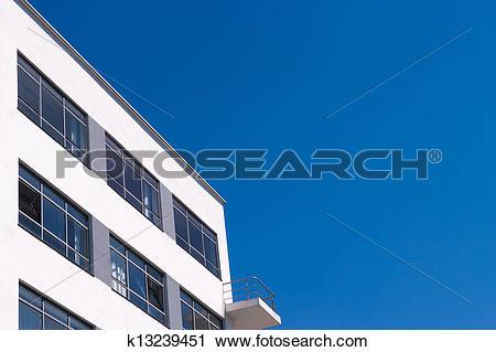Stock Photography of Bauhaus Dessau residental home detail.