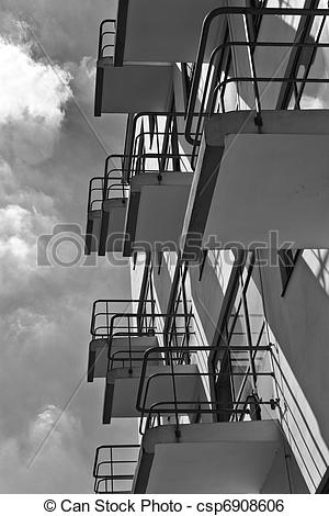 Stock Image of Bauhaus Schule Dessau.