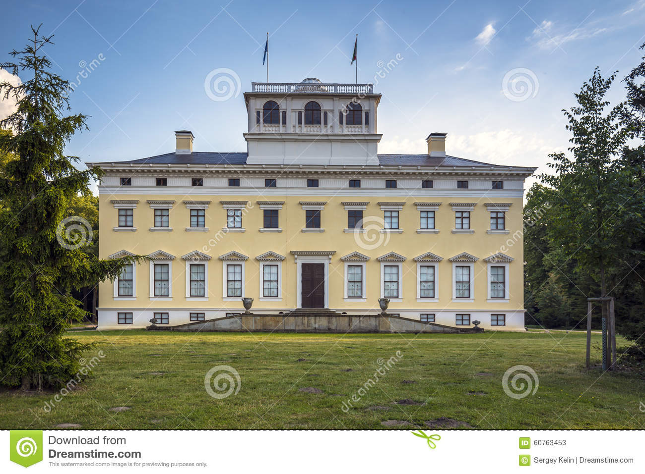 Wörlitz Castle In Dessau.